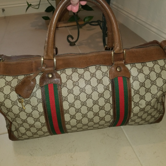 581274e5f9484 Gucci Handbags - Vintage Gucci Web Stripe Original GG Canvas Boston